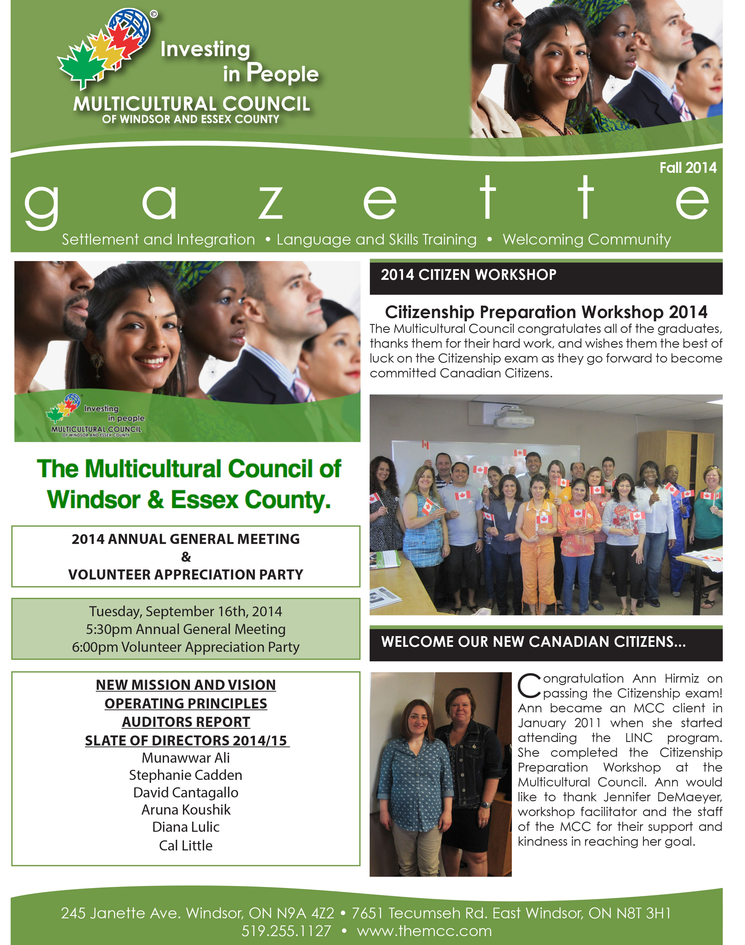 The Gazette - Fall Edition 2014